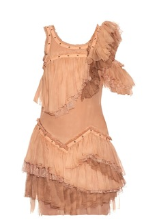 Roberto Cavalli Sleeveless ruffled silk-chiffon dress