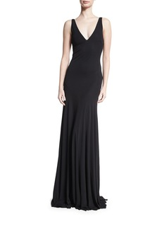 Roberto Cavalli Sleeveless Strappy-Back Mermaid Gown