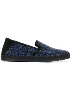 Roberto Cavalli slip-on sneakers - Black