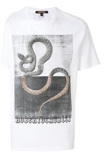Roberto Cavalli snake print T-shirt - White