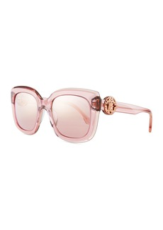 Roberto Cavalli Square Transparent Acetate Sunglasses