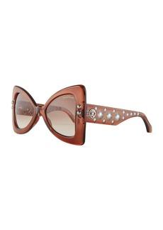 Roberto Cavalli Studded Chunky Geometric Sunglasses