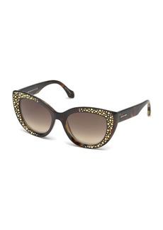 Roberto Cavalli Studded Gradient Cat-Eye Sunglasses