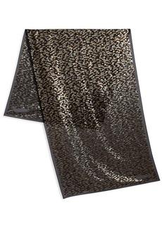 Roberto Cavalli Textured Silk-Blend Scarf