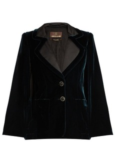 Roberto Cavalli Velvet tailored cape