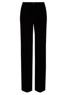 Roberto Cavalli Velvet wide-leg tuxedo-stripe trousers