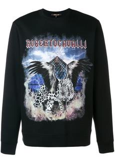 Roberto Cavalli winged leopard sweatshirt - Black