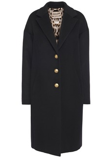 Roberto Cavalli Woman Angora And Wool-blend Felt Coat Black