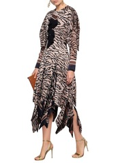Roberto Cavalli Woman Animal-print Silk Midi Dress Pastel Pink