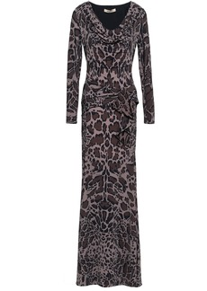 Roberto Cavalli Woman Leopard-print Stretch-jersey Maxi Dress Taupe
