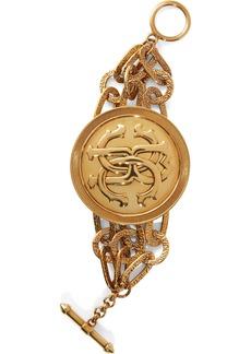 Roberto Cavalli Woman Burnished Gold-tone Bracelet Gold