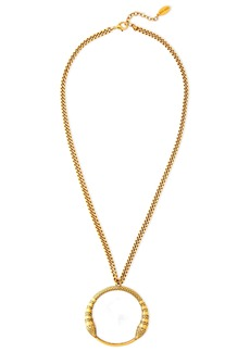 Roberto Cavalli Woman Burnished Gold-tone Necklace Gold