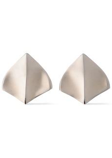 Roberto Cavalli Woman Burnished Silver-tone Earrings Silver