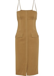 Roberto Cavalli Woman Button-embellished Twill Dress Mustard