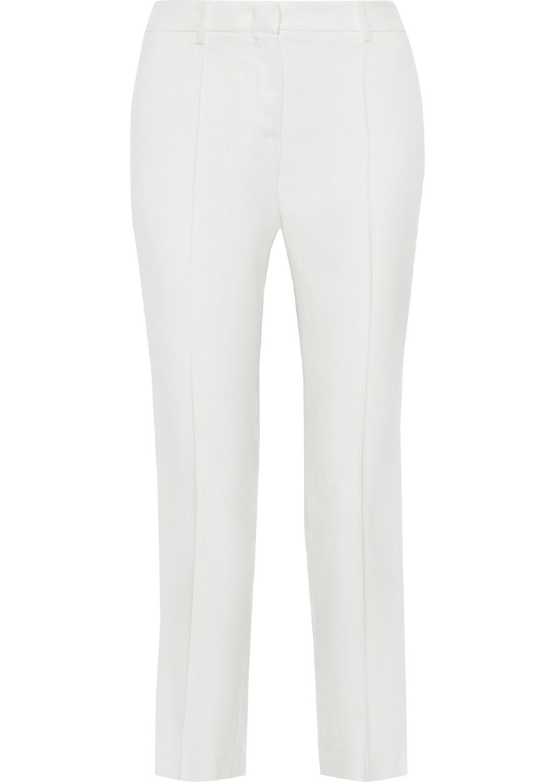 Roberto Cavalli Woman Canvas Slim-leg Pants Ivory