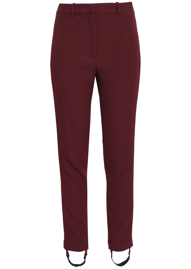 Roberto Cavalli Woman Crepe Slim-leg Stirrup Pants Burgundy