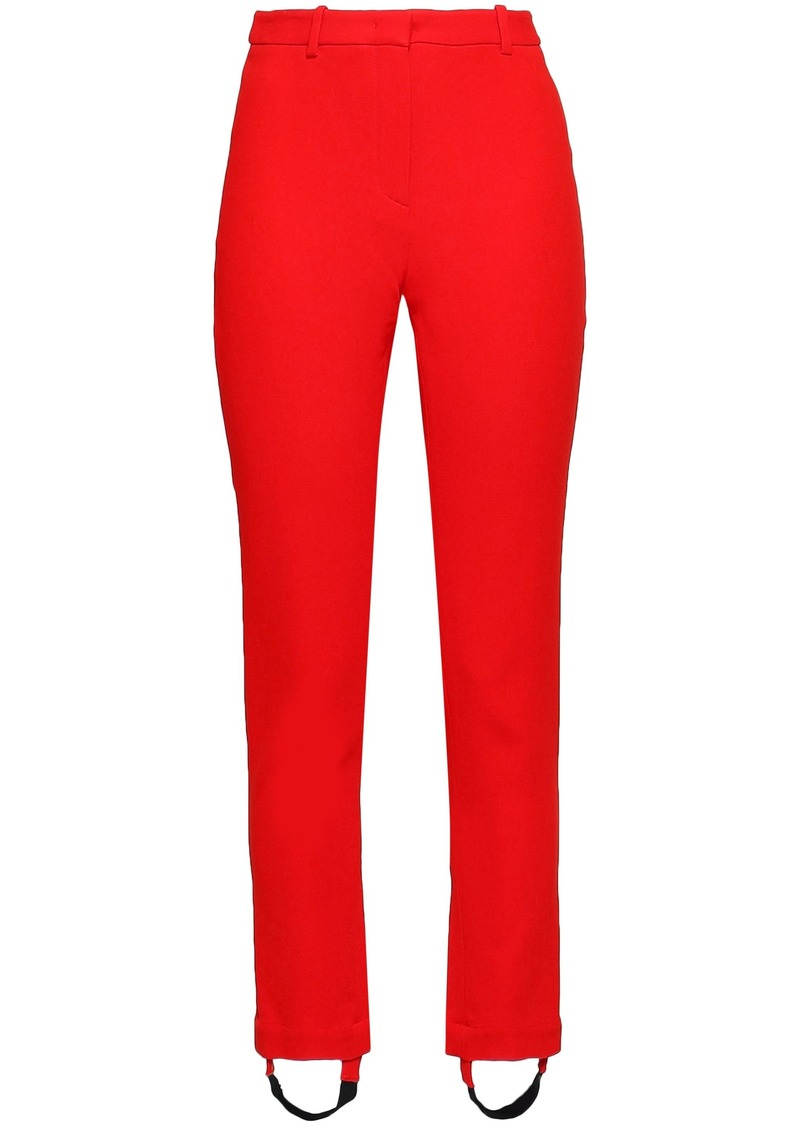 Roberto Cavalli Woman Crepe Slim-leg Stirrup Pants Tomato Red