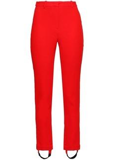 Roberto Cavalli Woman Crepe Slim-leg Stirrup Pants Tomato Red