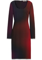 Roberto Cavalli Woman Crystal-embellished Dégradé Crepe Dress Brick
