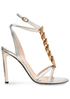 Roberto Cavalli Woman Embellished Ayers Sandals Silver