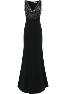 Roberto Cavalli Woman Embellished Crepe Gown Black