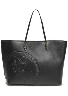 Roberto Cavalli Woman Embossed Leather Tote Black