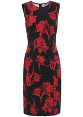 Roberto Cavalli Woman Floral-print Ponte Dress Black