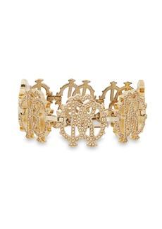 Roberto Cavalli Woman Gold-tone Crystal Bracelet Gold