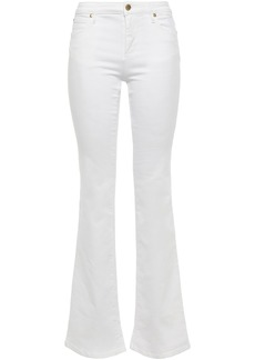 Roberto Cavalli Woman High-rise Flared Jeans White