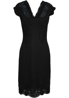 Roberto Cavalli Woman Jacquard-knit Dress Black