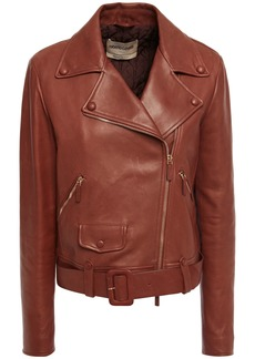 Roberto Cavalli Woman Leather Biker Jacket Brick