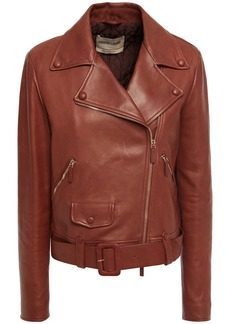 Roberto Cavalli Woman Leather Biker Jacket Brick
