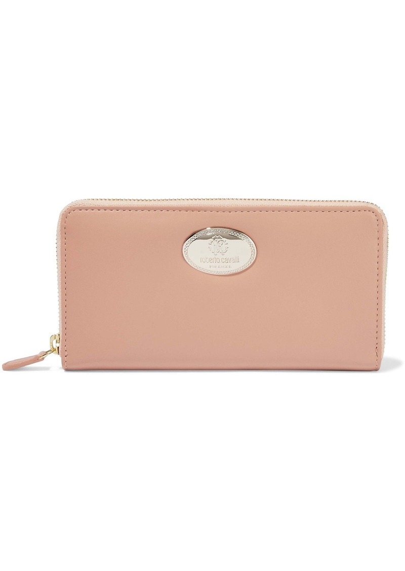 Roberto Cavalli Woman Leather Continental Wallet Antique Rose