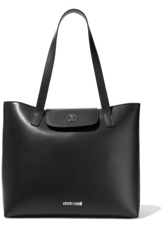 Roberto Cavalli Woman Leather Tote Black