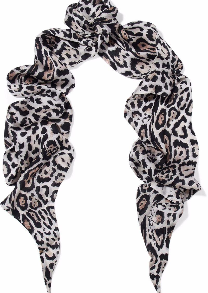 Roberto Cavalli Woman Leopard-print Silk Scarf Animal Print
