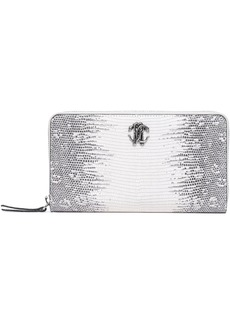 Roberto Cavalli Woman Logo-embellished Snake-effect Leather Wallet Animal Print