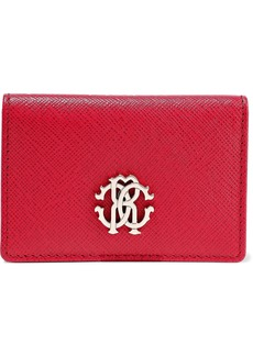 Roberto Cavalli Woman Logo-embellished Textured-leather Wallet Red