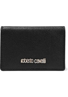 Roberto Cavalli Woman Logo-embellished Textured-leather Wallet Black