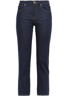 Roberto Cavalli Woman Mid-rise Kick-flared Jeans Dark Denim