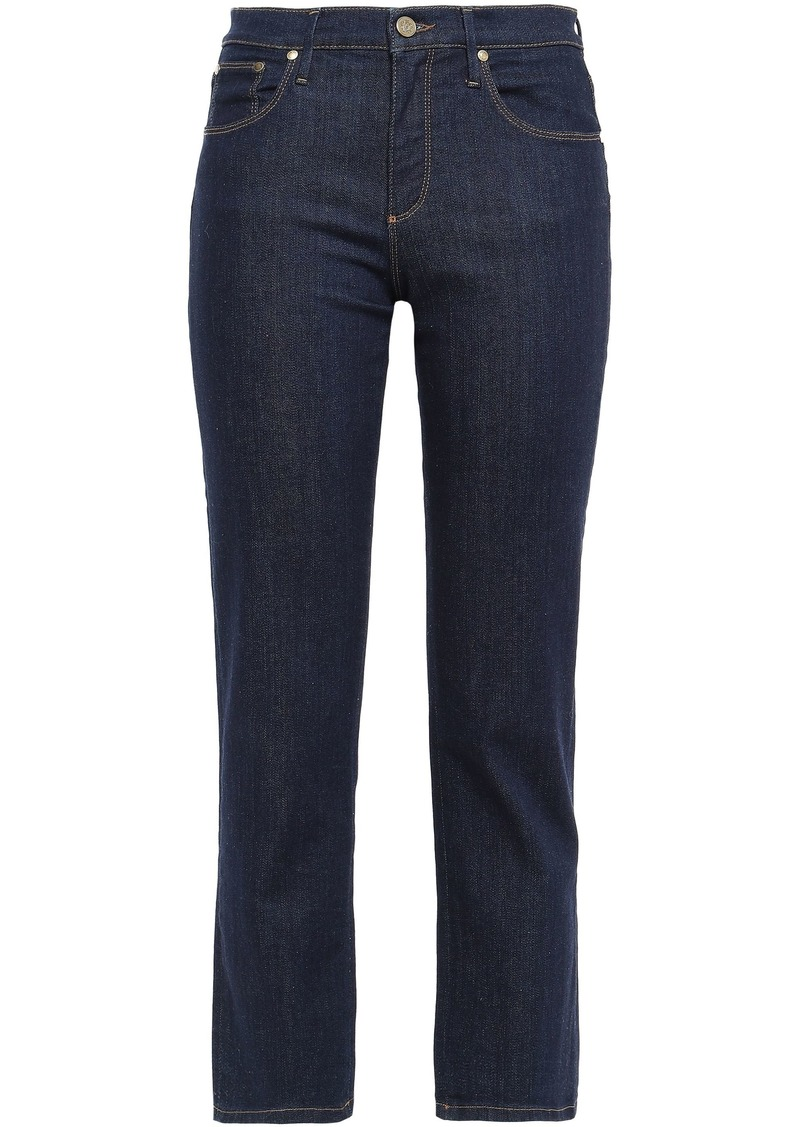 Roberto Cavalli Woman Mid-rise Kick-flared Jeans Dark Denim