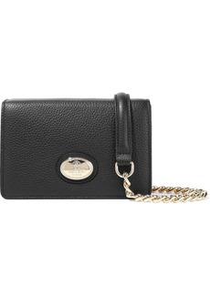Roberto Cavalli Woman Pebbled-leather Shoulder Bag Black