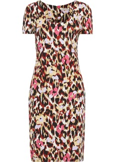 Roberto Cavalli Woman Printed Cady Dress Animal Print