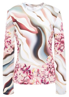 Roberto Cavalli Woman Printed Cotton-jersey Top Multicolor