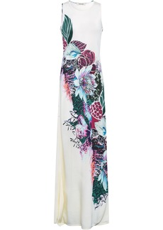 Roberto Cavalli Woman Printed Knitted Maxi Dress Ivory