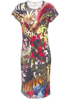 Roberto Cavalli Woman Printed Knitted Mini Dress Multicolor
