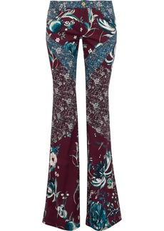 Roberto Cavalli Woman Printed Low-rise Flared Jeans Plum