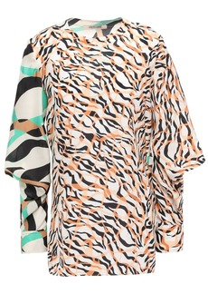 Roberto Cavalli Woman Printed Silk Blouse Off-white