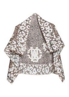 Roberto Cavalli Woman Printed Silk Scarf Beige