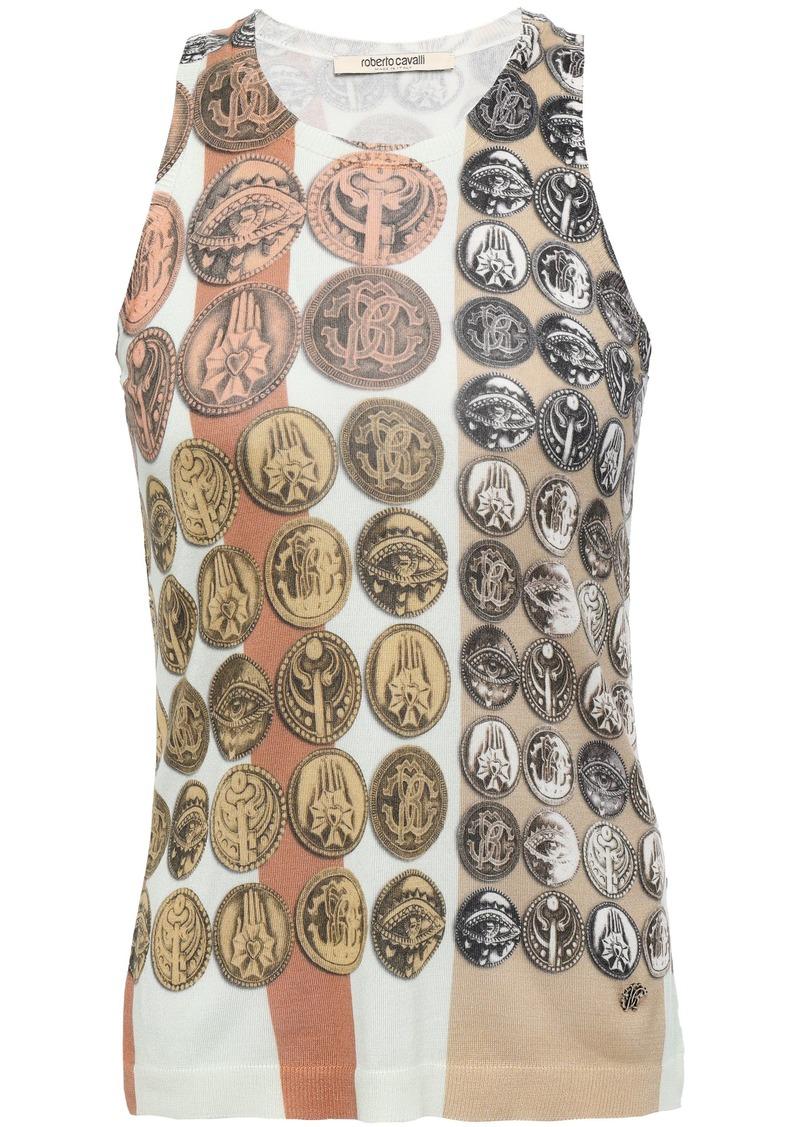 Roberto Cavalli Woman Printed Silk Tank Mint