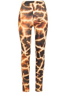 Roberto Cavalli Woman Printed Stretch-jersey Leggings Animal Print